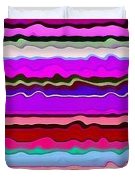 Color Waves No. 6 Duvet Cover by Michelle Calkins