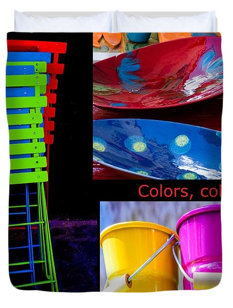 Color Your Life 1 Duvet Cover by Dany  Lison