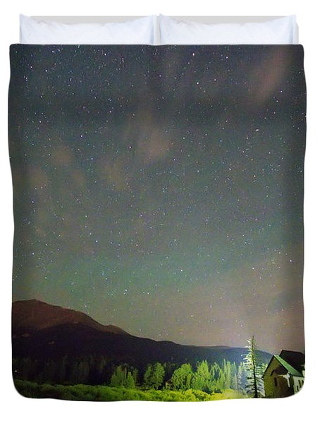 Colorado Chapel On The Rock Dreamy Night Sky Duvet Cover by James BO  Insogna
