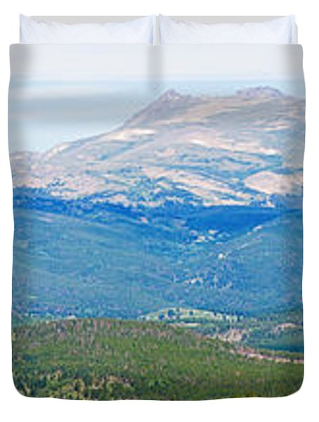 Colorado Continental Divide Panorama Hdr Crop Duvet Cover by James BO  Insogna