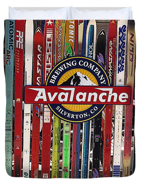 Colorado Logos Duvet Cover by Janice Rae Pariza