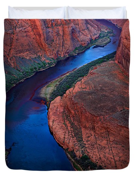 Colorado River Bend Duvet Cover by Inge Johnsson