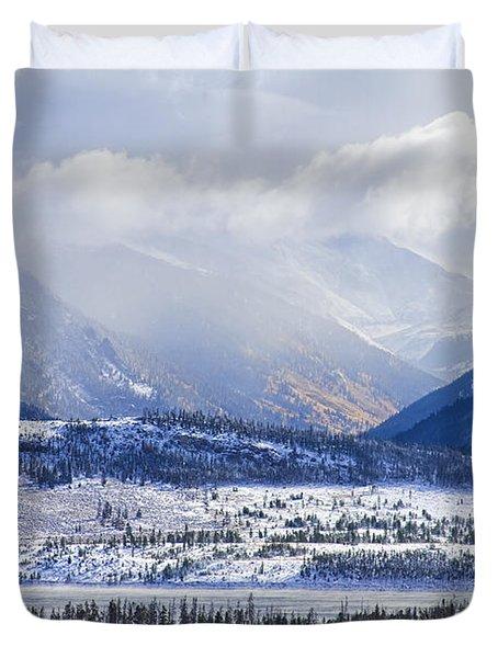 Colorado Rocky Mountain Autumn Storm Duvet Cover by James BO  Insogna