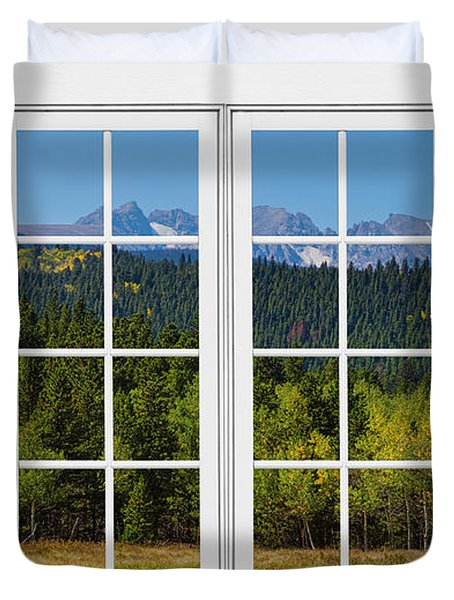 Colorado Rocky Mountains White Window Frame View Duvet Cover by James BO  Insogna