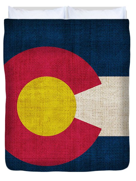 Colorado state flag Duvet Cover by Pixel Chimp