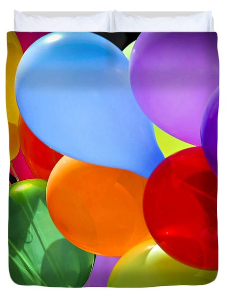 Colorful balloons Duvet Cover by Elena Elisseeva