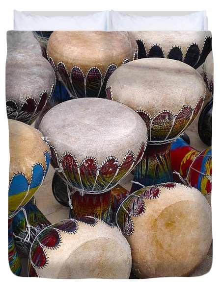 Colorful Congas Duvet Cover by Carlos Caetano