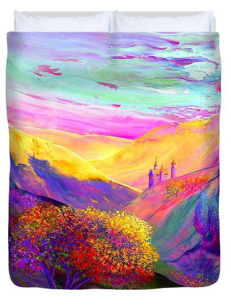 Colorful Enchantment Duvet Cover by Jane Small