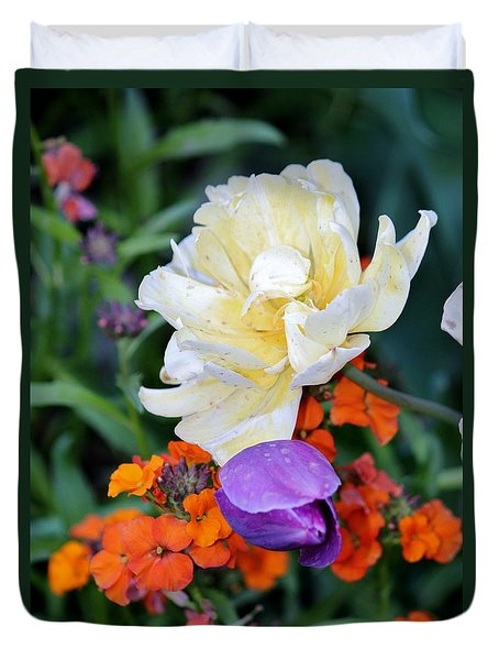 Colorful Flowers Duvet Cover by Cynthia Guinn