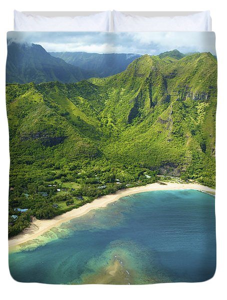 Colorful Kauai Coastline Duvet Cover by Kicka Witte