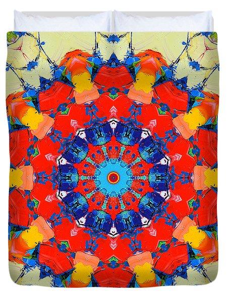 Colorful Mandala Duvet Cover by Ana Maria Edulescu