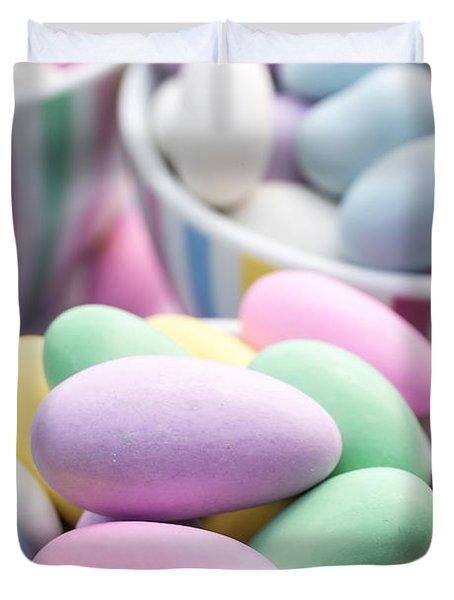 Colorful pastel jordan almond candy Duvet Cover by Edward Fielding