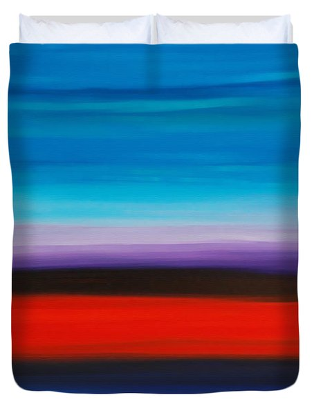 Colorful Shore - Abstract Art By Sharon Cummings Duvet Cover by Sharon Cummings