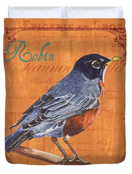 Colorful Songbirds 2 Duvet Cover by Debbie DeWitt