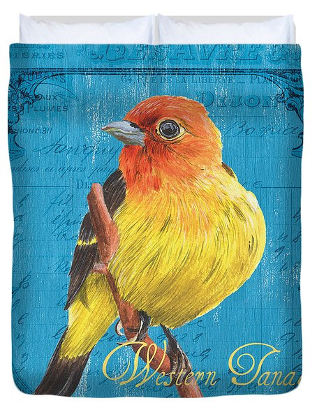 Colorful Songbirds 4 Duvet Cover by Debbie DeWitt
