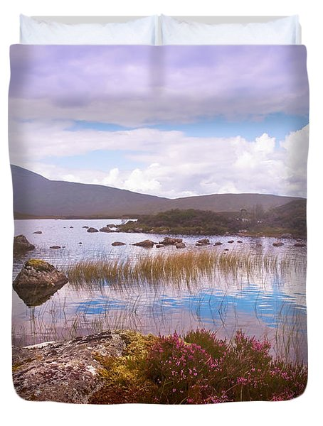 Colorful World Of Rannoch Moor. Scotland Duvet Cover by Jenny Rainbow