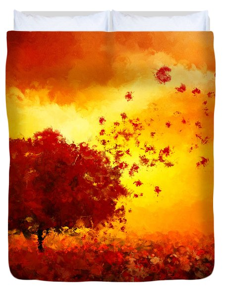 Colors Hymn Duvet Cover by Lourry Legarde