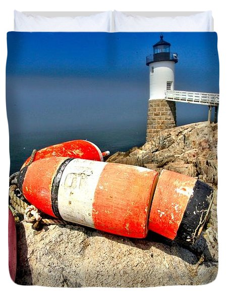Colors On The Rocks Duvet Cover by Adam Jewell