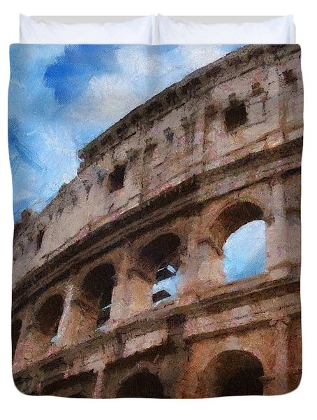 Colosseo Duvet Cover by Jeff Kolker