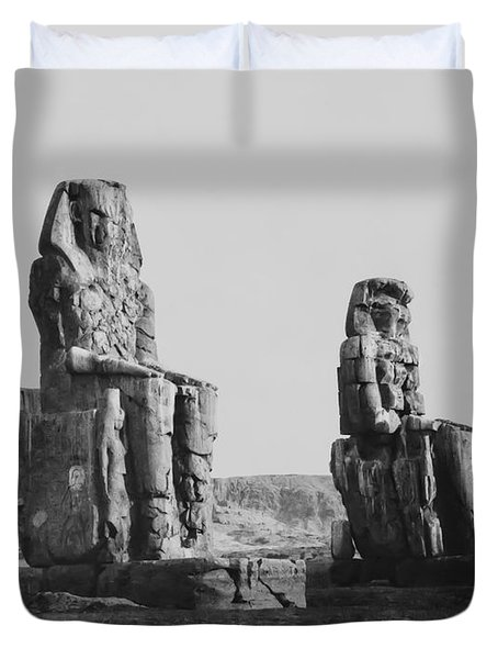 COLOSSES of THEBES - 1851 Duvet Cover by Daniel Hagerman