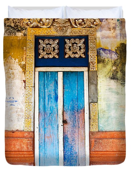 Colourful Door Duvet Cover by Dave Bowman