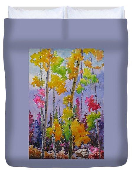 Colours Of Fall Duvet Cover by Mohamed Hirji