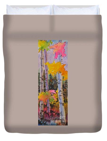 Colours Of The Rainbow Duvet Cover by Mohamed Hirji