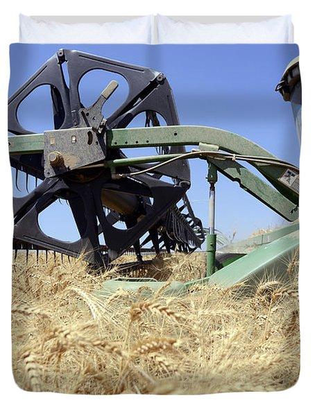 Combine harvester  Duvet Cover by Shay Fogelman