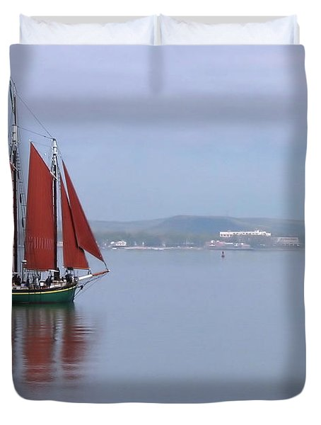 Come Sail Away Duvet Cover by Karol Livote