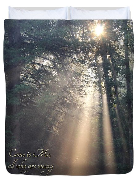 Come To Me Duvet Cover by Lori Deiter