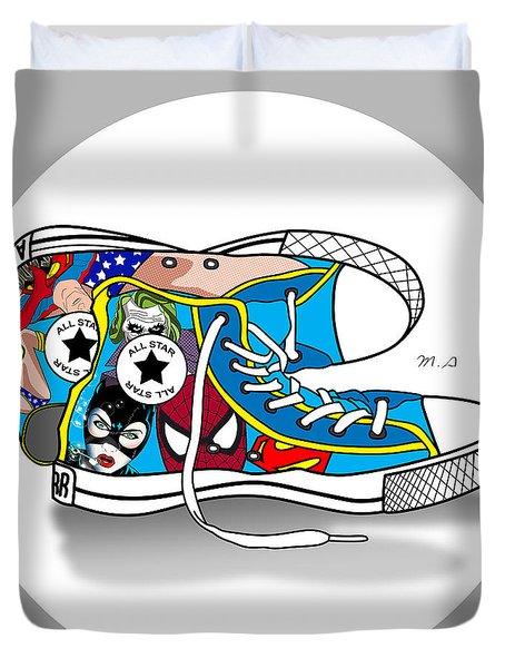 Comics Shoes 2 Duvet Cover by Mark Ashkenazi