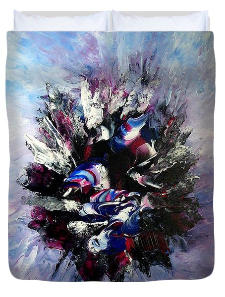 Coming from the other side of life Duvet Cover by Isabelle Vobmann