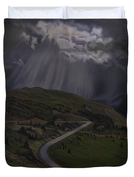 Coming Home To God Duvet Cover by Thu Nguyen