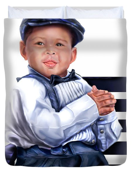 Commissioned - Handsome Baby Boy 1a Duvet Cover by Reggie Duffie
