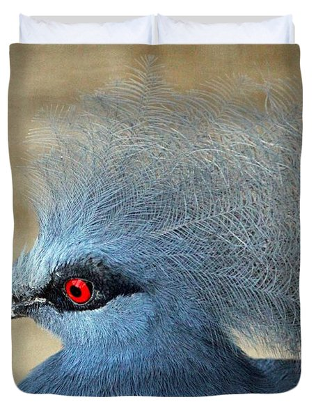 Common Crowned Pigeon Duvet Cover by Cynthia Guinn