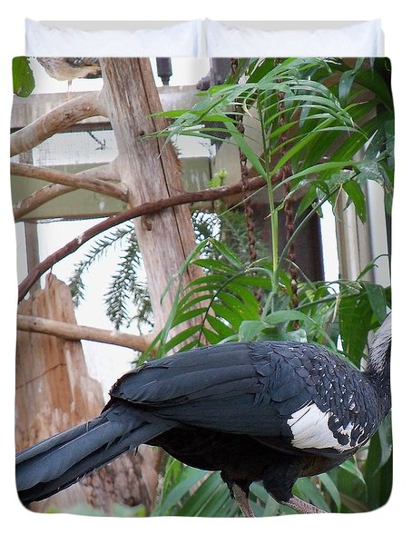 Common Piping Guan Duvet Cover by Lingfai Leung
