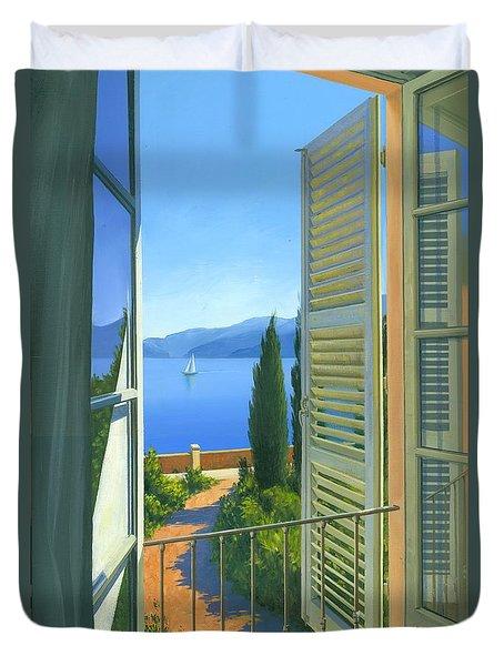 Como View Duvet Cover by Michael Swanson