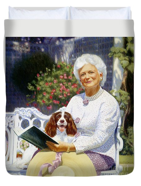 Companions In The Garden Duvet Cover by Candace Lovely