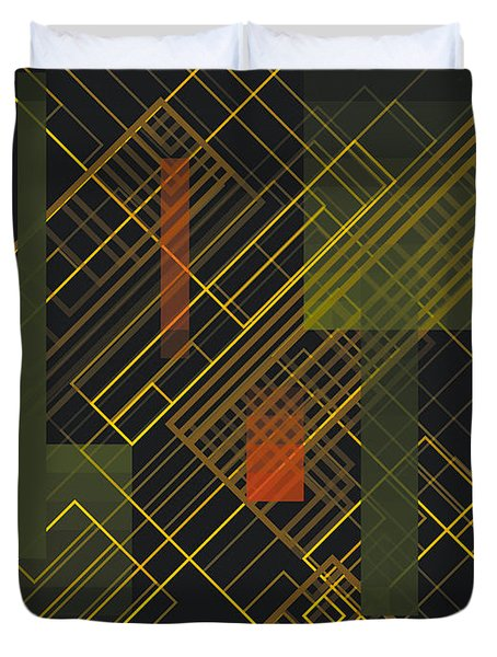 Composition 15 Duvet Cover by Terry Reynoldson
