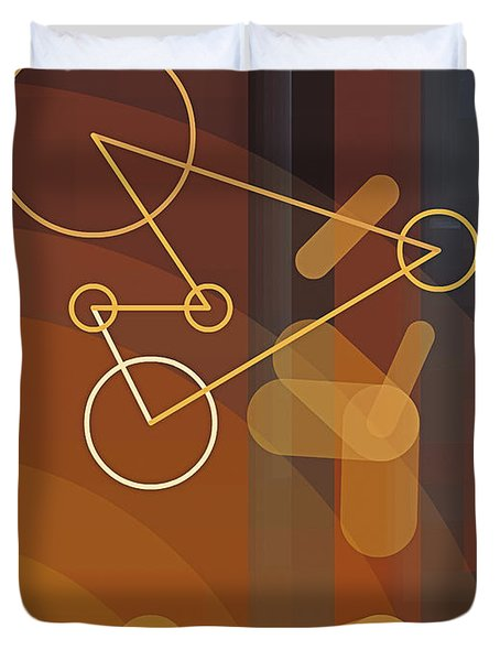 Composition 50 Duvet Cover by Terry Reynoldson