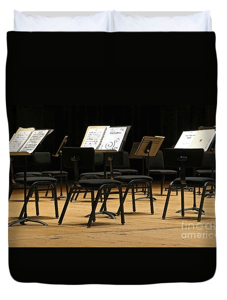 Concert Time Out Duvet Cover by Ann Horn
