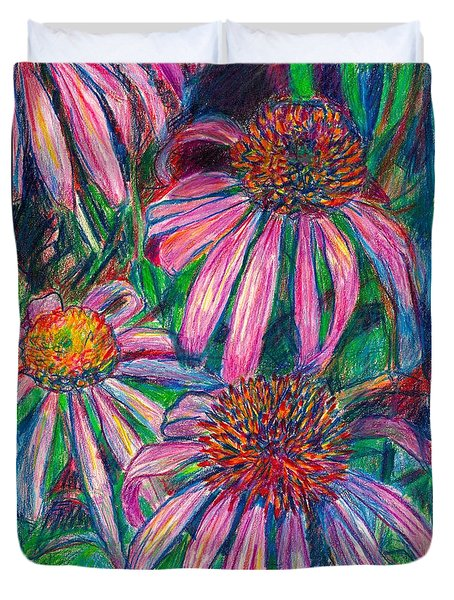 Coneflower Twirl Duvet Cover by Kendall Kessler