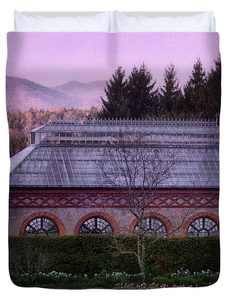 Conservatory At Biltmore Estate Duvet Cover by Doug Sturgess