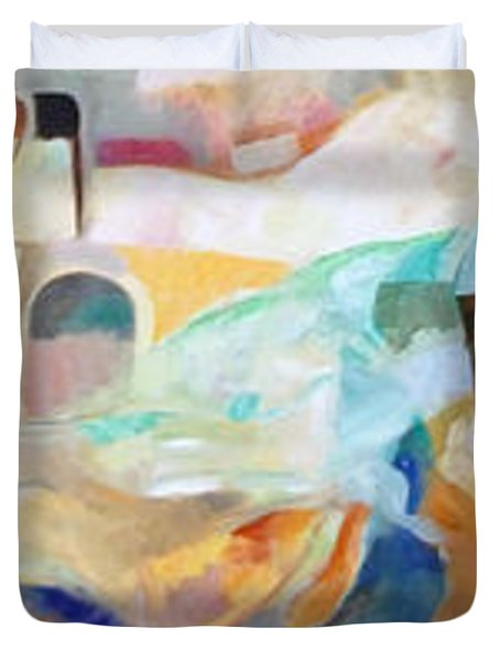 Consoling Yaakov Avinu Duvet Cover by David Baruch Wolk