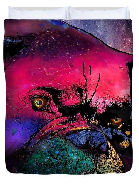 Contemplative Boxer Dog Duvet Cover by Marlene Watson