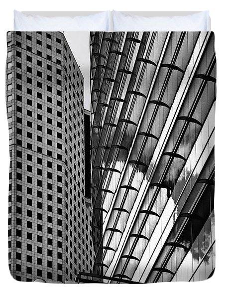 Continental Center I Houston TX Duvet Cover by Christine Till