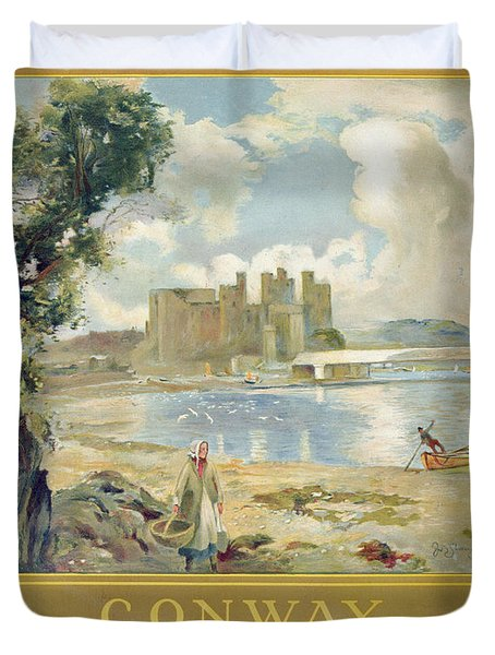 Conway Castle Duvet Cover by Sir David Murray