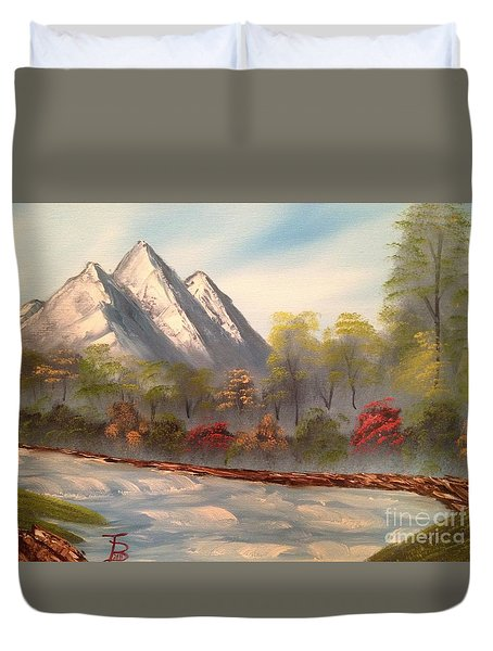 Cool Mountain River Duvet Cover by Tim Blankenship