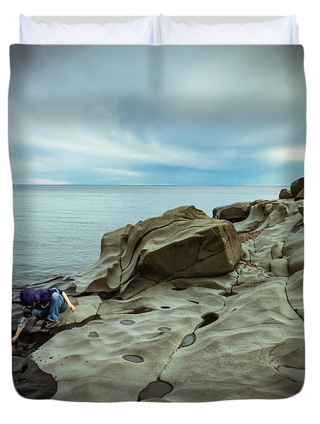 Cool To The Touch Duvet Cover by Mary Amerman