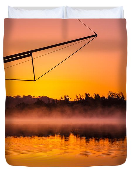 Coos Bay Sunrise II Duvet Cover by Robert Bynum
